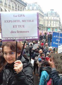 Marche 23 11 2019 pancarte contre la GPA